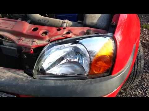 replace headlight ford fiesta