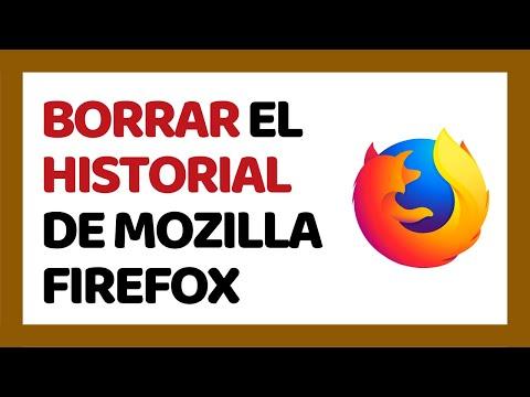 Cómo Borrar el Historial de Mozilla Firefox 2018 (Junio 2018) | Cómo Usar Firefox 2018