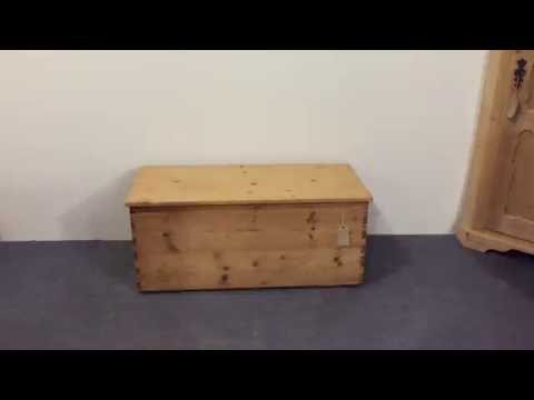 Old English Flat Top Box  - Pinefinders Old Pine Furniture Warehouse
