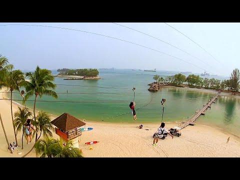 MegaZip Adventure Park Zipline on Sentosa Island, Singapore