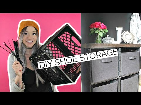 DIY Shoe Storage w/ Zip Ties + Milk Crates | Laci Jane