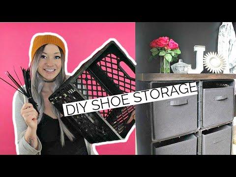 DIY Shoe Storage w/ Zip Ties + Milk Crates | Laci Jane