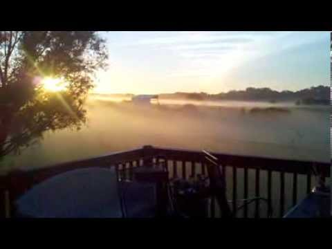 Sunrise off the deck