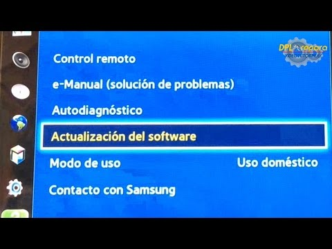 Actualizar software Smart TV Samsung (por Wifi o USB). [Smart TV software update (USB or Wi-Fi)].