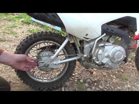 More work and testing the crf110f brake replacement....Weird battery issue as well