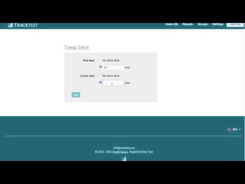 Set the time limit (video tutorial)