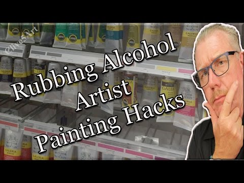 8 Unusual Uses for Rubbing Alcohol, Hacks   Acrylic painting #clive5art