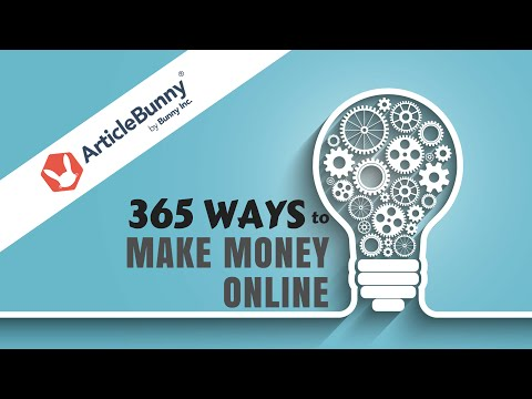Earn Money Writing for Article Bunny