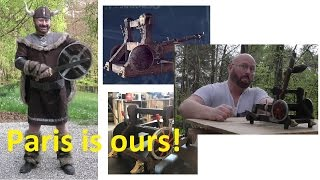 """Vikings"" Siege Engine - 90 kilos, 300 meters?"