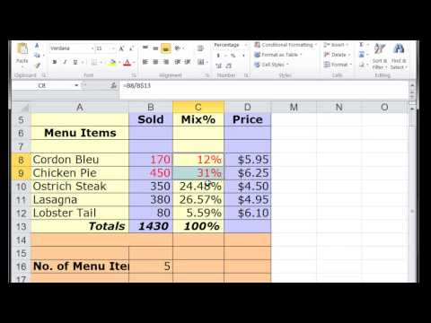 How To Convert Dollar Cells to Percentage