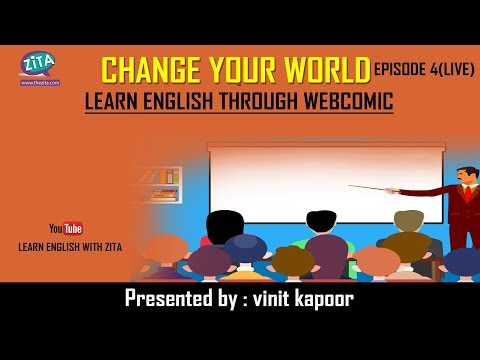 Live Class of Spoken English | Live English Speaking Class|Change Your World-Episode 4|Vinit Kapoor