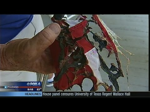 American flags burned in Weatherford