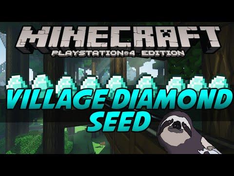 Minecraft PS4 TU19 Seed Review - DIAMOND VILLAGE! - (PS4/PS3/PSVita)
