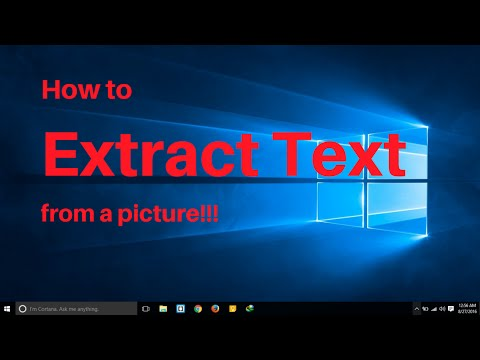 How to Extract and Edit Text From a Picture or Scanned Document!!!
