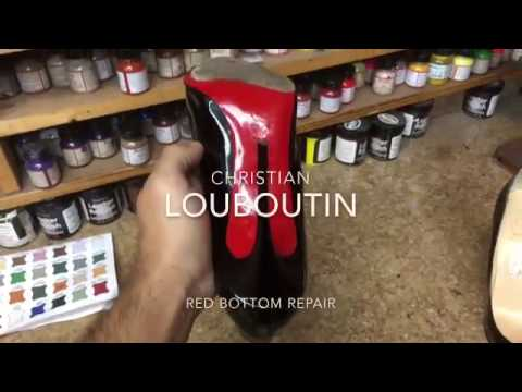 Red bottom repair on Christian Louboutin