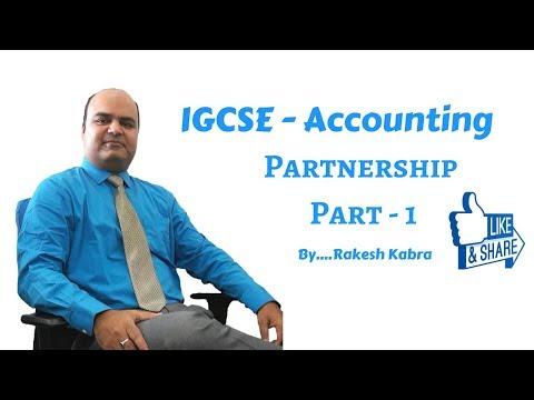 IGCSE Accounting - Partnership Accounting Part 1