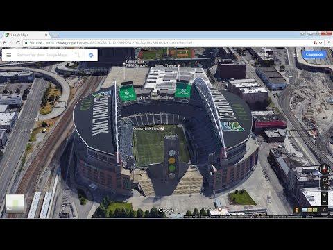 Google maps 3D Seattle buildings