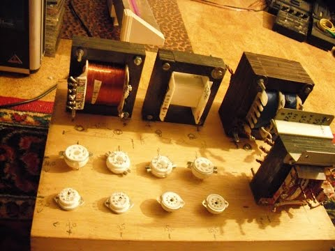 Homemade EL34/6ca7 Push Pull Tube amplifier with DIY Ultra linear Hi-Fi Output transformers.