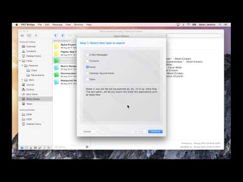 Transfer notes from Outlook pst files to Mac OS X