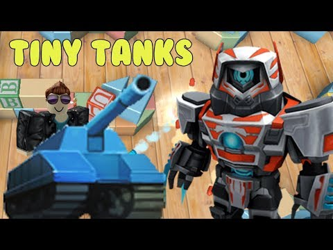 Twin Toys Plays Roblox Tiny Tanks!  Why are you chasing me with that Tiny Tank!