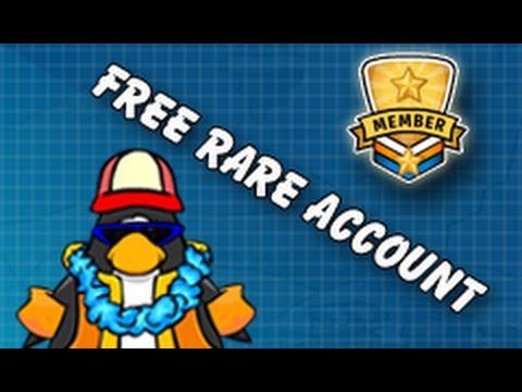 Club Penguin Free Rare Member Account May 2013