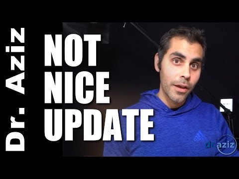 Not Nice Update - Audio Version, Raffle, & More! Dr. Aziz Confidence Coach
