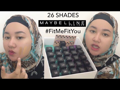 Swatching 26 SHADES Of Maybelline FitMe Foundation Onto My Skin | Bahasa Indonesia | Diendiana