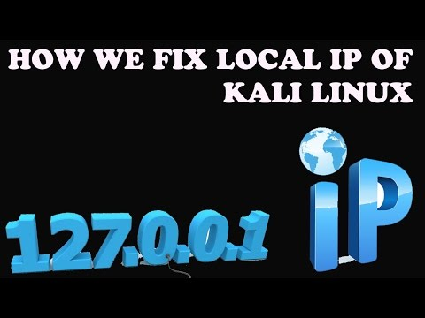 How We Fix Local ip Of Kali Linux And Parrot sec OS In Urdu Hindi