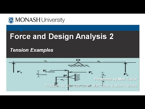 Force and Design Analysis 2: Tension Example