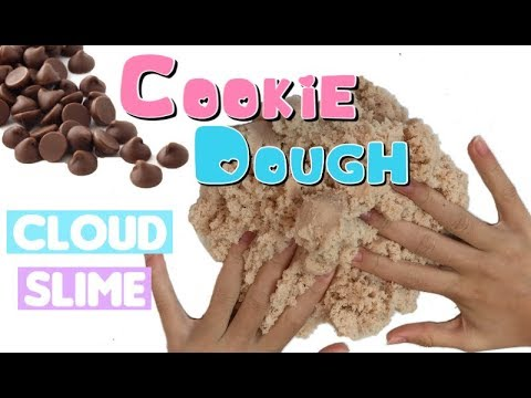Cookie Dough Cloud Slime Tutorial!  Fluffy Satisfying Slime