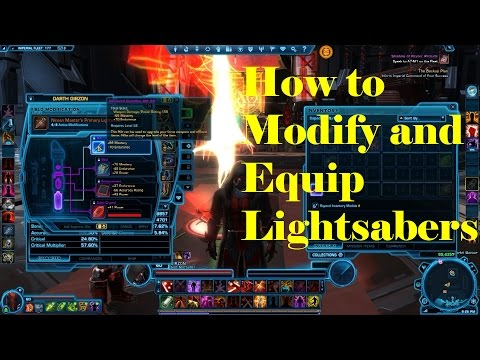 SWTOR Sith Marauder How to Modify and Equip Lightsabers