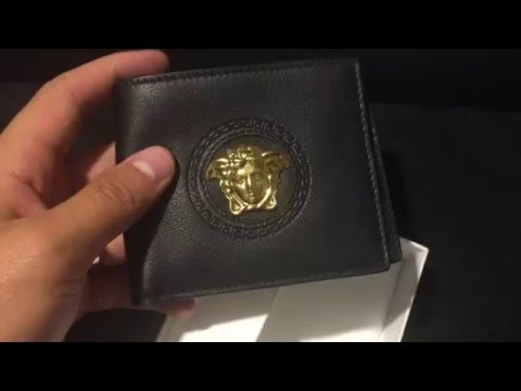 Versace Wallet (Black & Gold)