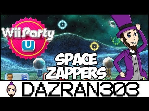 Wii PARTY U | Space Zappers Minigame | Gameplay/Commentary Dazran303