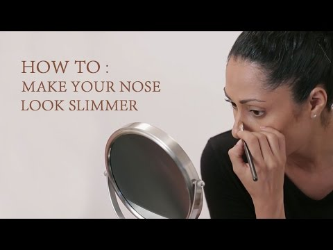 How To Make Your Nose Look Slimmer | Nose Contouring Makeup Tricks | Glamrs