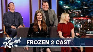 Frozen 2 Cast on Spoilers, Songs, Crazy Products & Frozen Phenom