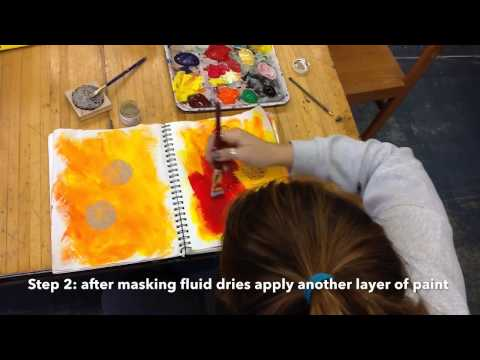Stamping With Masking Fluid