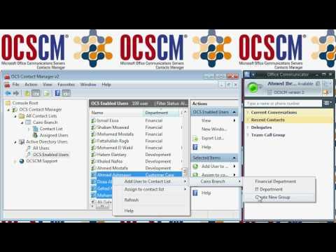 OCS Contact Manager v2 Demo