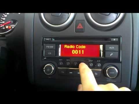 Как вводить код магнитолы Daewoo на авто марки Nissan