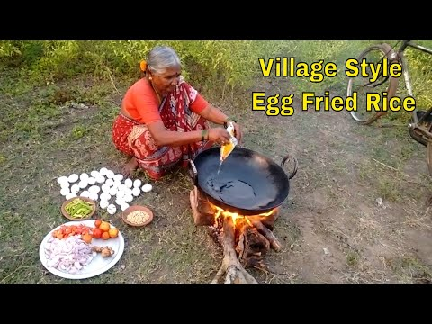 Village Style  Egg Fried Rice By Grandma || 32  Eggs ||Crazy Foods||