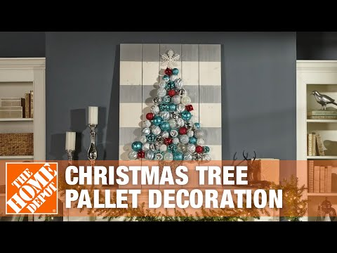 Christmas Pallet Decorations: Holiday Ornament Display Tree