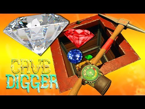 CAVING AND DIGGING FOR DIAMONDS | Cave Digger Vive Gameplay