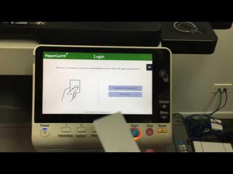 Konica Minolta and PaperCut MF New Card Registration
