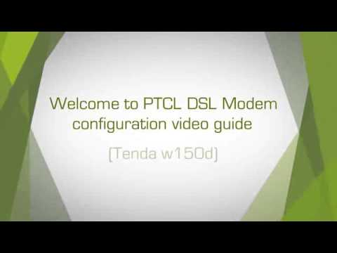 LAN Settings in PTCL Tenda W150D Modem on Vimeo clip1