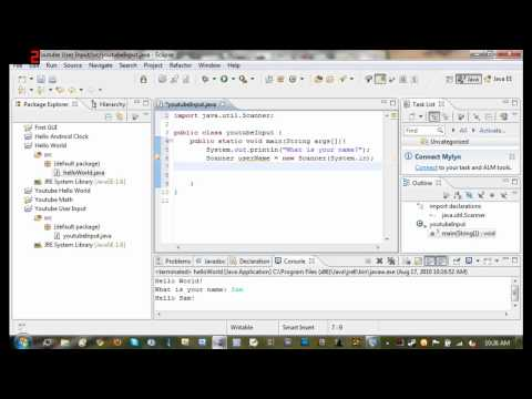Java Tutorial 4 - Getting User Input From The Console