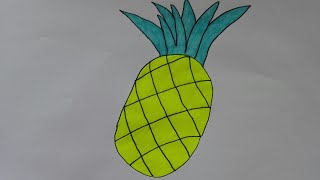 How To Draw Pineapple Easy Videos 9videos Tv