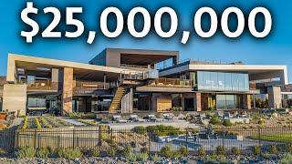 Inside a $25,000,000 Futuristic Las Vegas Modern Mega Mansion