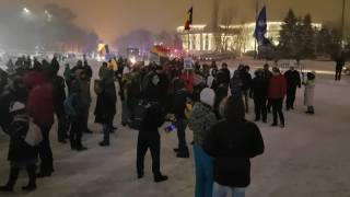 Protestul de la 22:30 la -4 grade / 8 februarie 2017