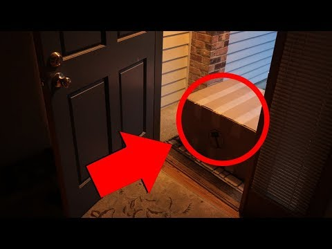 If you see this at your door, run fast and ask for help!