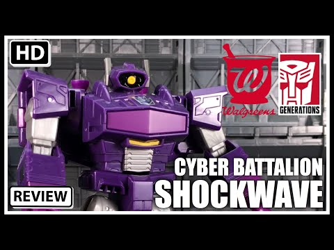 Walgreens Exclusive Transformers Generations Cyber Battalion Shockwave review