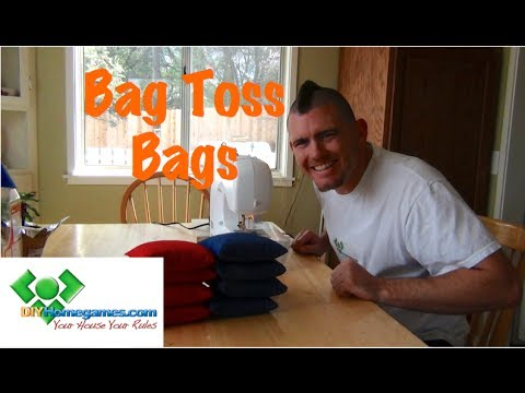 How to make Bag Toss Bags - DIYHomegames